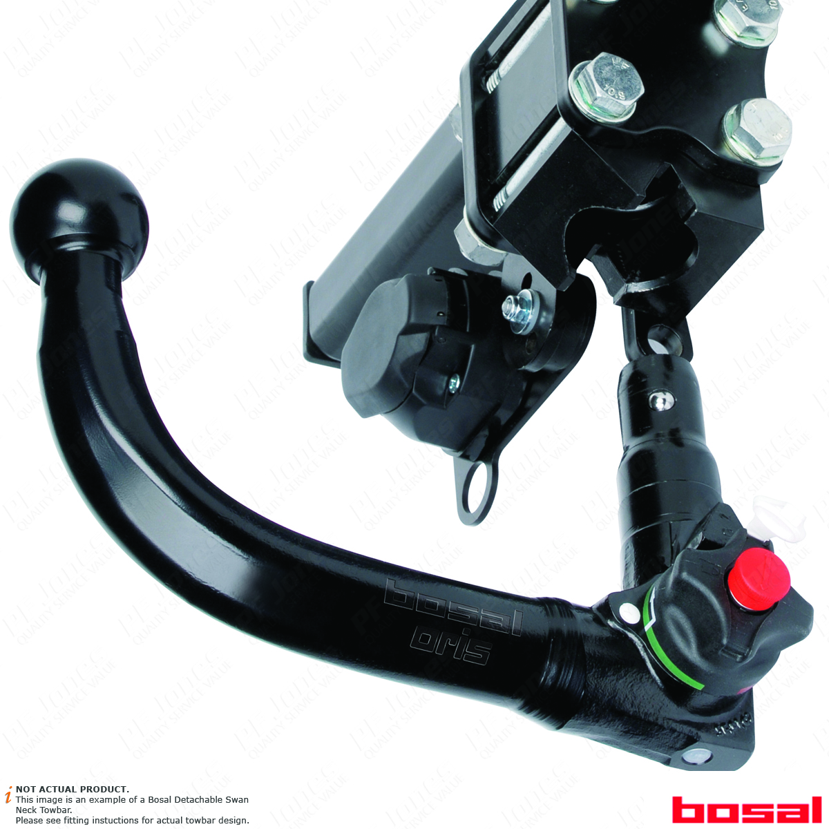 Swan Neck Tow Bar Brink Towbar for Ford S-Max 2015 Onwards